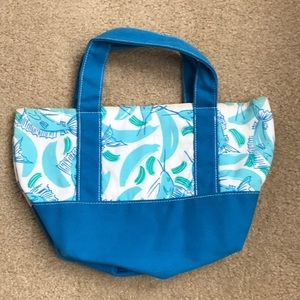 Lilly Pulitzer White Tag Blue Print Pool Tote